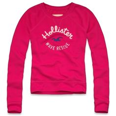 Hollister Co Sunset Cliffs Sweatshirt ($11) ❤ liked on Polyvore featuring tops, hoodies, sweatshirts, shirts, hollister, blusas, jackets, embroidered sweatshirts, cotton shirts and crew neck shirt