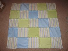 Look What I Made: Fringed fleece baby blanket