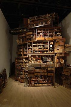 "You can always use a good set of drawers.  (""About Memories"" installation by Hiroko Kono)"