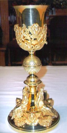 17th century,Spanish chalice,a special gift to the Church from Pope Pius IX