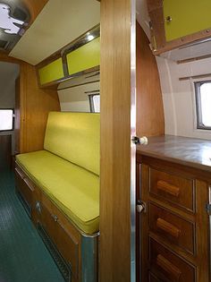 Different inside set ups, removable quad bunks turn into couch seating