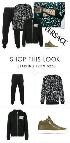 """""""ZAYN X VERSUS Collection"""" by shosho-mahmmod ❤ liked on Polyvore featuring Versus, Giuseppe Zanotti, men's fashion and menswear"""
