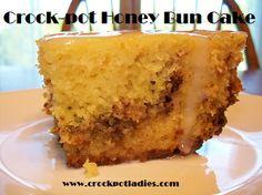 Crock-Pot Honey Bun Cake ~ CrockPotLadies.com