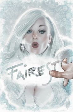 My favourite Fairest cover by Adam Hughes - the Snow Queen. Comic Book Artists, Comic Book Characters, Comic Artist, Comic Books Art, Story Characters, Adam Hughes, Marvel Comics, Bd Comics, Comics Girls