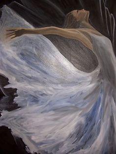 Worship Angel.  Original Oil on Canvas.