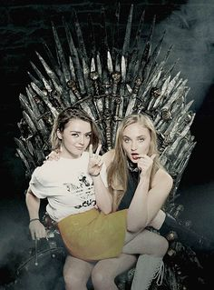 Sophie Turner & Maisie Williams at the Entertainment. Love them