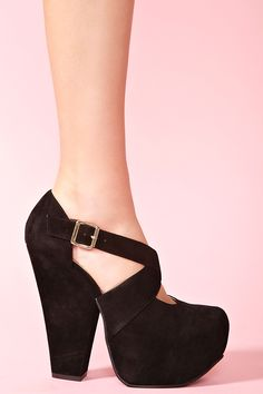Black velvet heels wedges