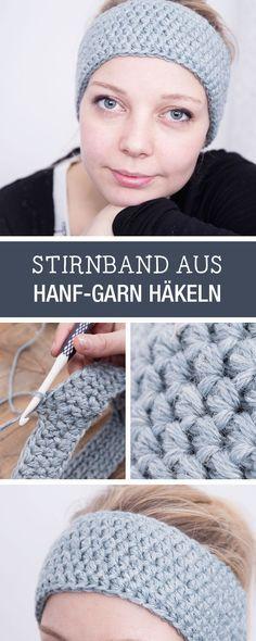 DIY-Anleitung: Warmes Stirnband aus Hanf-Garn für den Herbst häkeln / DIY tutorial: crocheting warm head band out of hemp yarn for autumn and winter via DaWanda.com