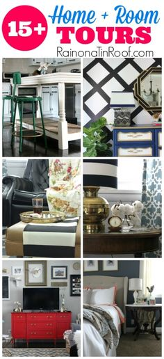 REAL LIFE DECORATING on a Budget!! 15+ Home & Room Tours via RainonaTinRoof.com