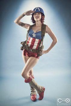 Fantastic Femme Captain America [Cosplay]