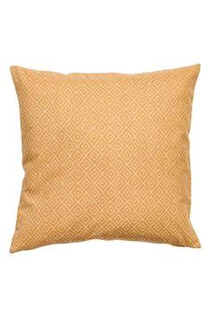 Copricuscino in tela di cotone - Giallo - HOME | H&M IT 1