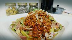 #Bunte #Tagliatelle #bolognese #prosciutto2pastalicious Bolognese, Tacos, Heaven, Mexican, Pasta, Meat, Chicken, Ethnic Recipes, Food