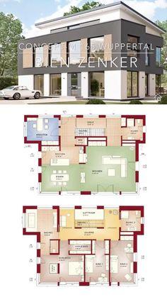 2 Storey House Design, Sims House Design, House Front Design, Modern Bungalow House, Bungalow House Plans, Cottage House Plans, White Exterior Houses, Minimal House Design, Free House Plans