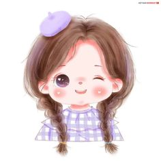 Girl Drawing Sketches, Cute Girl Drawing, Cartoon Girl Drawing, Cute Drawings, Cartoon Art, Cute Baby Cartoon, Cute Cartoon Pictures, Cute Love Cartoons, Cute Girl Illustration