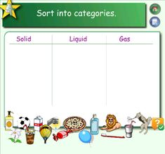 Identifying Solids, Liquids, and Gases