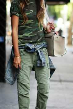 Camo cool, denim and fab bag #CAMOUFLAGE
