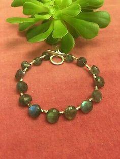 Labradorite Gemstone Bracelet | eBay Stone Uk, Beaded Jewelry, Beaded Bracelets, Pearl Gemstone, Labradorite, Beading, Gemstones, Sterling Silver, Ebay