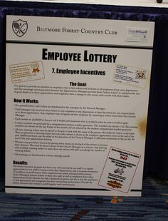 "Our goal was to provide an incentive for employees that are fair,  unbiased, and inclusive to all employees from every department, as  well as encourage communication between departments. Managers  recognize excellence by giving employees ""lottery tickets"" for good  deeds, and the lottery numbers are drawn once a month as an incentive."