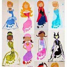 Elsa princess footprint