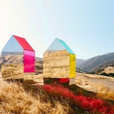 #mirror houses for @cadillac campaign #photography by autumn de wild @officialautumndewilde #architecture #art #regram @designboom... - Interior Design Ideas, Interior Decor and Designs, Home Design Inspiration, Room Design Ideas, Interior Decorating, Furniture And Accessories