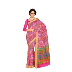 Rs. 899 only for Printed Cotton Saree in Pink from MuHeNeRa to buy visit http://www.craftsvilla.com/catalog/product/view/id/831849/s/printed-cotton-saree-in-pink-from-muhenera-6473/
