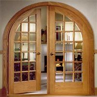 Arched Interior Wooden French Doors   I Think Iu0027d Like This Better If It