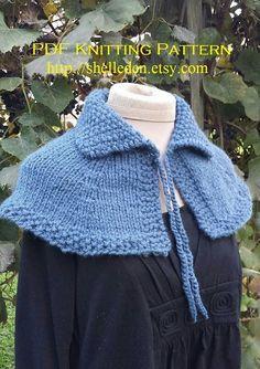PDF Knitting Pattern for Highlands Capelet Instant by Shelleden