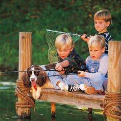 I just love this photo!  Not enough fishing for kids today...teaches patience