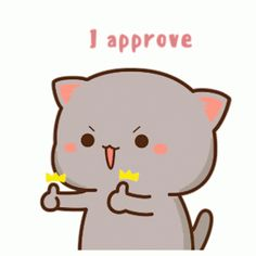 Rosycheeks Approved GIF - Rosycheeks Approved IApprove - Discover & Share GIFs Cute Anime Cat, Cute Bunny Cartoon, Cute Cartoon Images, Cute Kawaii Animals, Cute Love Gif, Cute Love Pictures, Cute Love Cartoons, Cute Cat Gif, Cute Images