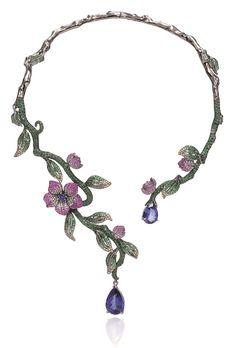necklace or bracelet Gems Jewelry, High Jewelry, Luxury Jewelry, Modern Jewelry, Stone Jewelry, Jewelry Art, Jewelry Accessories, Jewelry Necklaces, Jewelry Design