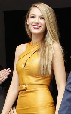 Blake Lively. The lipstick is gorgeous.