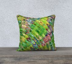 The Ripple Effect III, Lemon Lime - Pillow Cover, Square, 18x18
