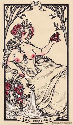 Tarot III Empress by Fyodor Pavlov #tarotcardsart