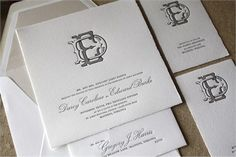 letterpress wedding invitations | Darcy + Edward  design | Page Stationery available at Paces Papers