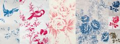 Brocante Fabrics Petits Oiseaux, Cabane Rose, Castang Basket and Brocante Rose