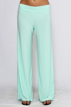 Mix Wide Leg Pant in Mint