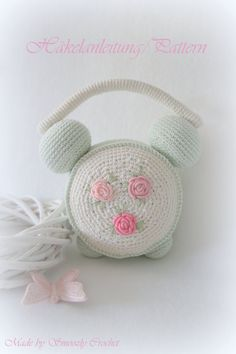 Pattern Alarm Clock Shabby Chic by AllaboutBunny on Etsy