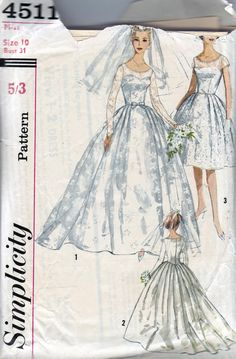 1960s Vintage Sewing Pattern STUNNING Full by allthepreciousthings,