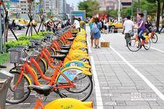 台北市YouBike前30分鐘免費的補貼即將用罄,交通局考慮以「轉乘優惠」降低市府補助來解套。(張立勳攝)