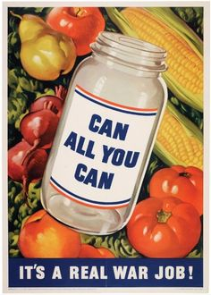 World War I and II food preservation poster