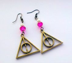 Harry+Potter+Deathly+Hallows+Antique+Bronze+Dangle+by+TiggyFiggy,+£4.50