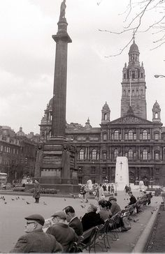 George Square, Glasgow, 19 April 1960 by allhails, via Flickr