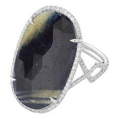 Monique Péan Atelier Diamond & Sapphire Slice Ring at Barneys.com Barneys New York, Sapphire, Diamond, Rings, Atelier, Ring, Diamonds, Jewelry Rings