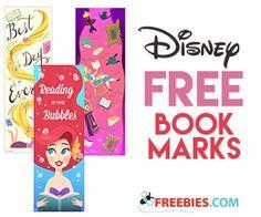 Free Printable Disney Bookmarks
