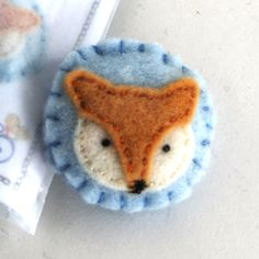 SEWING KIT - Woodland Fox Brooch Sewing Kit with hand dyed wool felt and all the supplies you need! by museofthemorn on Etsy