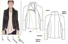Jett Biker Leather or Woven Jacket