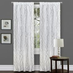 @Overstock.com - L'Amour Eternel Black/ White Faux Silk 84-inch Novelty Curtain Panel - Give your living space a decorative and elegant flair with this 84-inch faux silk curtain panel. Made from 100 percent faux silk polyester, this curtain panel features a rod-pocket construction and a white background with soft black detailing.  http://www.overstock.com/Home-Garden/LAmour-Eternel-Black-White-Faux-Silk-84-inch-Novelty-Curtain-Panel/7194857/product.html?CID=214117 $24.28