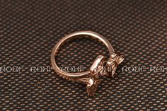 ROXI Christmas Gift Classic Genuine Austrian Crystals Sample Sales Rose Gold  Plated  Butterfly Ring Jewelry Party OFF