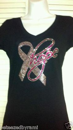 Breast Cancer Support Bling Shirts Different Designs | eBay