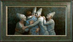 2012 - Vriendschap - 80 x 40 cm - acryl op paneel Kenne Gregoire